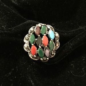 Spectacular Vintage Multi Stone Ring
